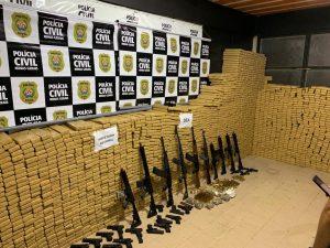 Polícia Civil realiza grande apreensão de drogas e armas em Minas Gerais